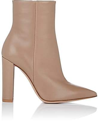 Gianvito Rossi Women's Piper Leather Ankle Boots - Bisque