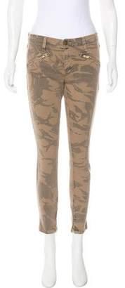 Current/Elliott Mid-Rise Patterned Jeans