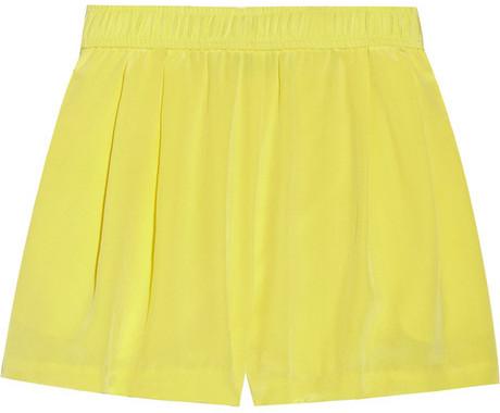 Tibi Carnival silk shorts