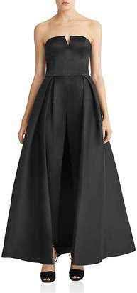 HALSTON HERITAGE Faille Full Skirted Jumpsuit $725 thestylecure.com