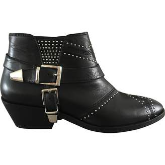 Anine Bing Leather buckled boots