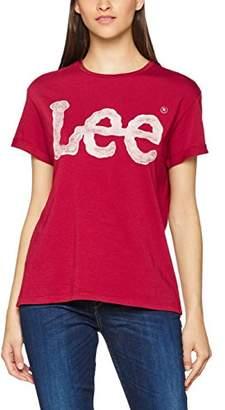 Lee Women's Logo Tee Short Sleeve T-Shirt,S (Manufacturer Size: S)