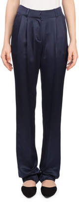 Magda Butrym Halle High-Waist Straight-Leg Silk Trousers