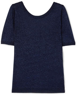 Missoni Metallic Stretch-knit Top - Navy