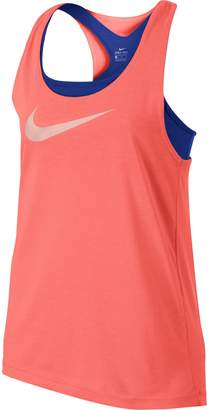 Nike Girls 7-16 Swoosh Built-In Sports Bra Racerback Tank Top