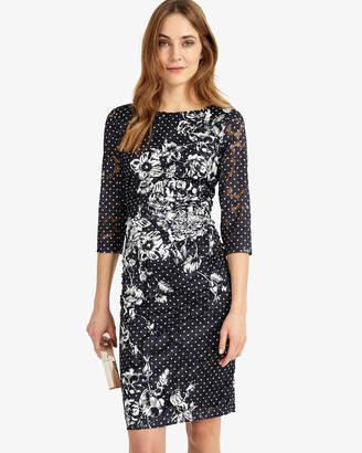 Phase Eight Agatha Lace Print Dress