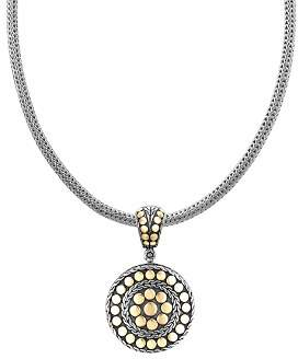 """John Hardy Dot Deco"""" Gold and Silver Round Enhancer"""