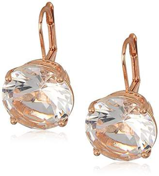 T Tahari Essentials Women's Prong Set Stone On Leverback Drop Earrings