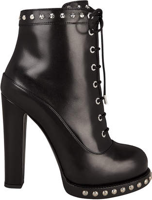 Alexander McQueen Studded Lace-Up Booties