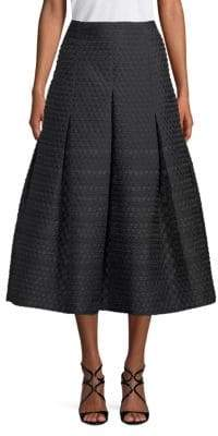 Akris Punto Pleated Midi Skirt