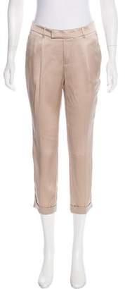 Gucci Mid-Rise Silk Pants