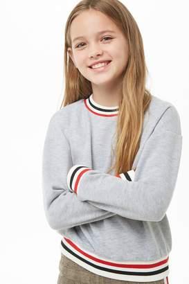 Forever 21 Girls Varsity Striped-Trim Sweatshirt (Kids)
