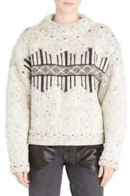 Isabel Marant Elwyn Wool-Blend Pattern Sweater