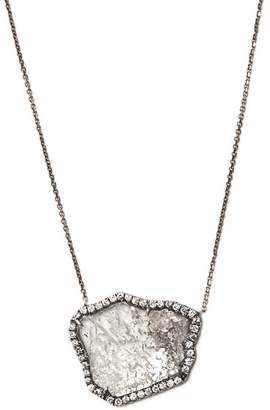Susan Foster Diamond Slice & White Gold Necklace - Womens - Black Gold