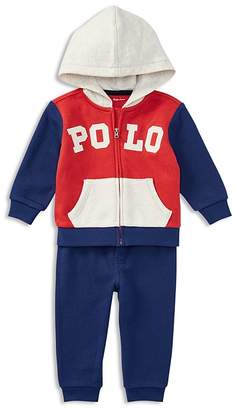 Ralph Lauren Boys' French Terry Zip-Up Hoodie & Sweatpants Set - Baby