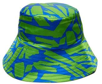 d376226e465fc Preen by Thornton Bregazzi Holly Pavement Print Satin Bucket Hat - Womens -  Green Blue Print