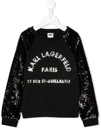 Karl Lagerfeld sequin embellished sweatshirt