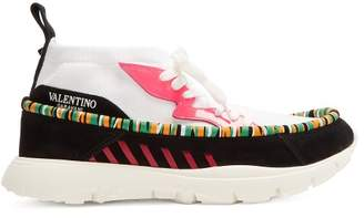 Valentino Heroes Tribe High Top Trainers - Mens - White Multi