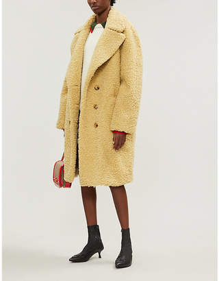 Burberry Softening Women's Yellow Lillingstone Teddy Coat