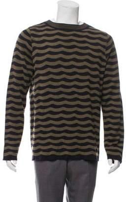 Dries Van Noten Striped Wool Sweater olive Striped Wool Sweater