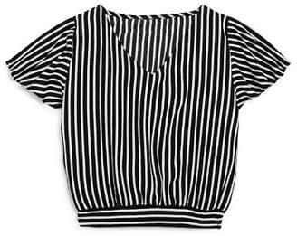 Aqua Girls' Striped Top, Big Kid - 100% Exclusive