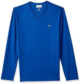 Lacoste Men's Long Sleeve V Neck Shirt T-Shirt, Th6711,9