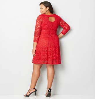 0c84a6e1ca5 ... Avenue Back Cutout Lace Fit and Flare Dress