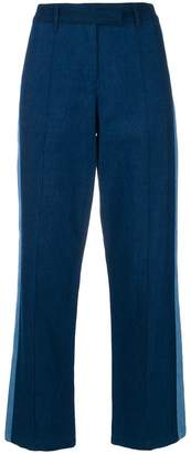 A.P.C. side stripe cropped trousers