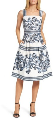 Women's Vince Camuto Fit & Flare Dress $128 thestylecure.com