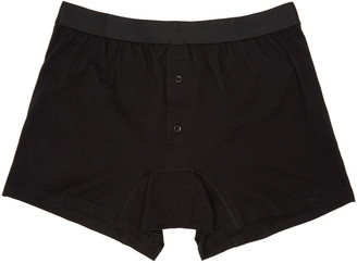 Comme des Garçons Shirt Black Button-Fly Boxer Briefs $45 thestylecure.com