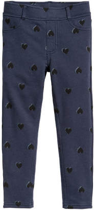 H&M Thick Jersey Leggings - Blue