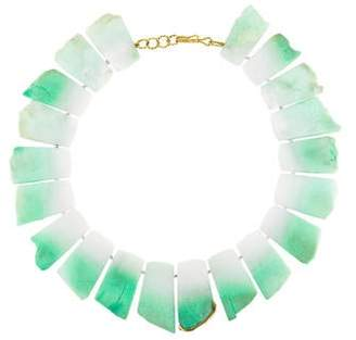 Kara Ross 18K Diamond & Dyed Calcite Bead Necklace