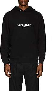 Givenchy Men's Logo-Print Cotton Hoodie - Black