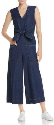 Joie Wister Sleeveless Cropped Denim Jumpsuit