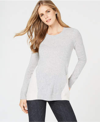 Charter Club Colorblock Pure Cashmere Sweater in Regular & Petite Sizes