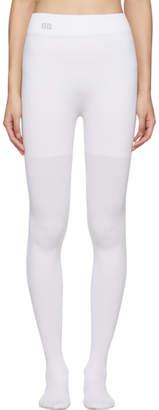 Balenciaga White BB Tights