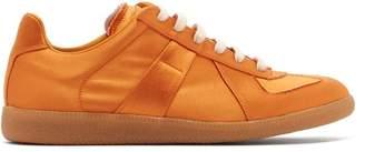 Maison Margiela Replica Low Top Satin Trainers - Mens - Orange