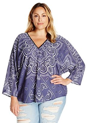 Single Dress Women's Plus-Size Printed Butterfly Top $130.50 thestylecure.com