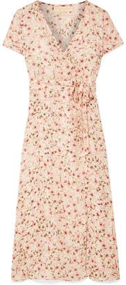 DAY Birger et Mikkelsen Paloma Blue - Siena Wrap-effect Floral-print Silk-chiffon Dress - Baby pink