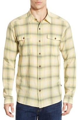 Men's Patagonia 'Steersman' Slim Fit Windowpane Organic Cotton Sport Shirt $79 thestylecure.com