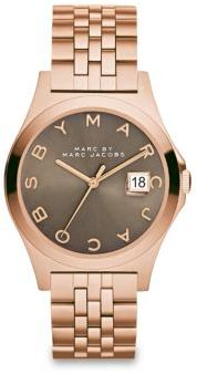 Marc by Marc Jacobs Henry Slim Rose Goldtone Stainless Steel Bracelet Watch/Dirty Martini $250 thestylecure.com
