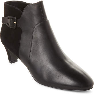 Cole Haan Black Sylvia Waterproof Leather Ankle Booties