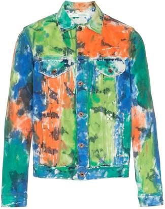 Off-White painted denim jacket