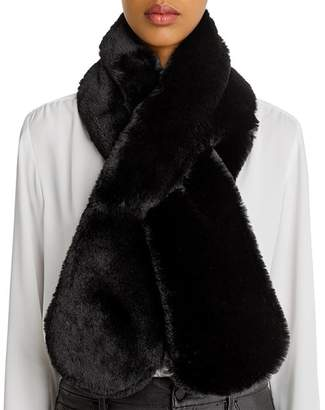 Echo Faux-Fur Pull-Through Scarf