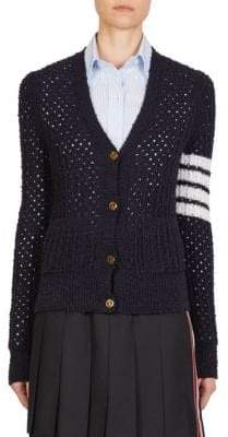 Thom Browne Open Stitch Wool Cardigan