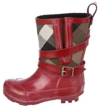 Burberry Girls' Nova Check Rain Boots