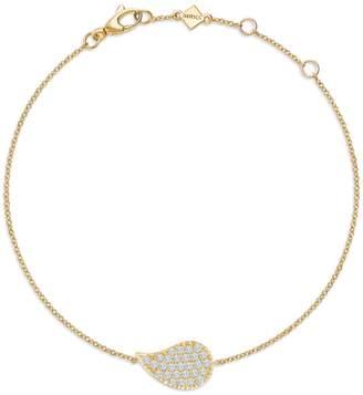 Birks Pétale Yellow Gold and Diamond Bracelet