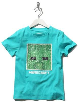 M&Co Minecraft two way sequin t-shirt