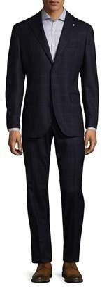 Lubiam Plaid Virgin Wool Suit
