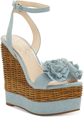 Jessica Simpson Pressa Wedge Sandals Women's Shoes